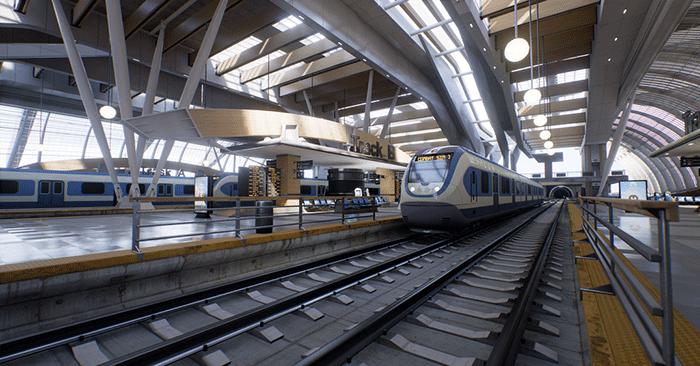 「GameWorks VR」が使用されているという「Bullet Train」デモ