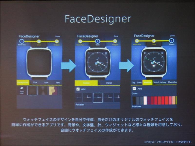 FaceDesignerにより、自由に盤面をカスタマイズできる