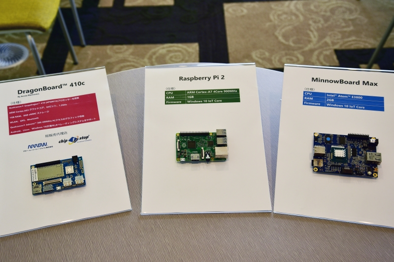 Raspberry PiといったARMを載せた市販の組み込みボードでもWindows 10 IoTは動作する