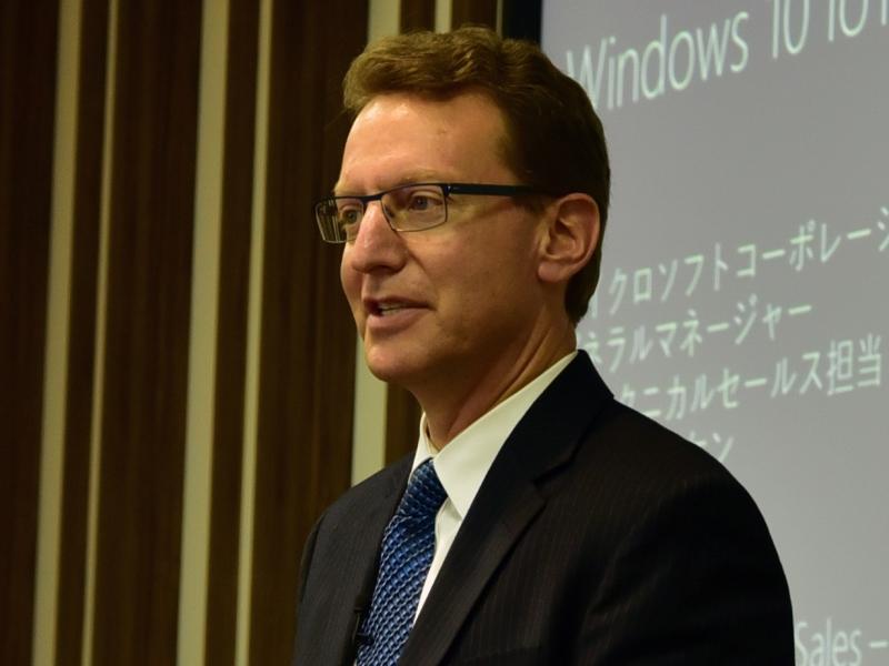 米Microsoftでゼネラルマネージャ IoTテクニカルセールス担当を務めるカール・コーケン氏