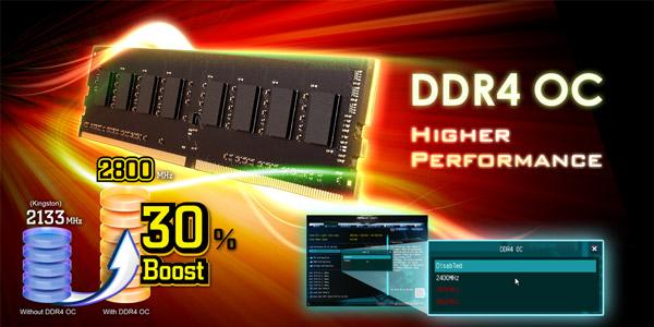 DDR4メモリを最大30% OC