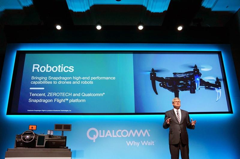 ドローン向けの「Snapdragon Flight Platform」で作られた中国Tencentのドローン