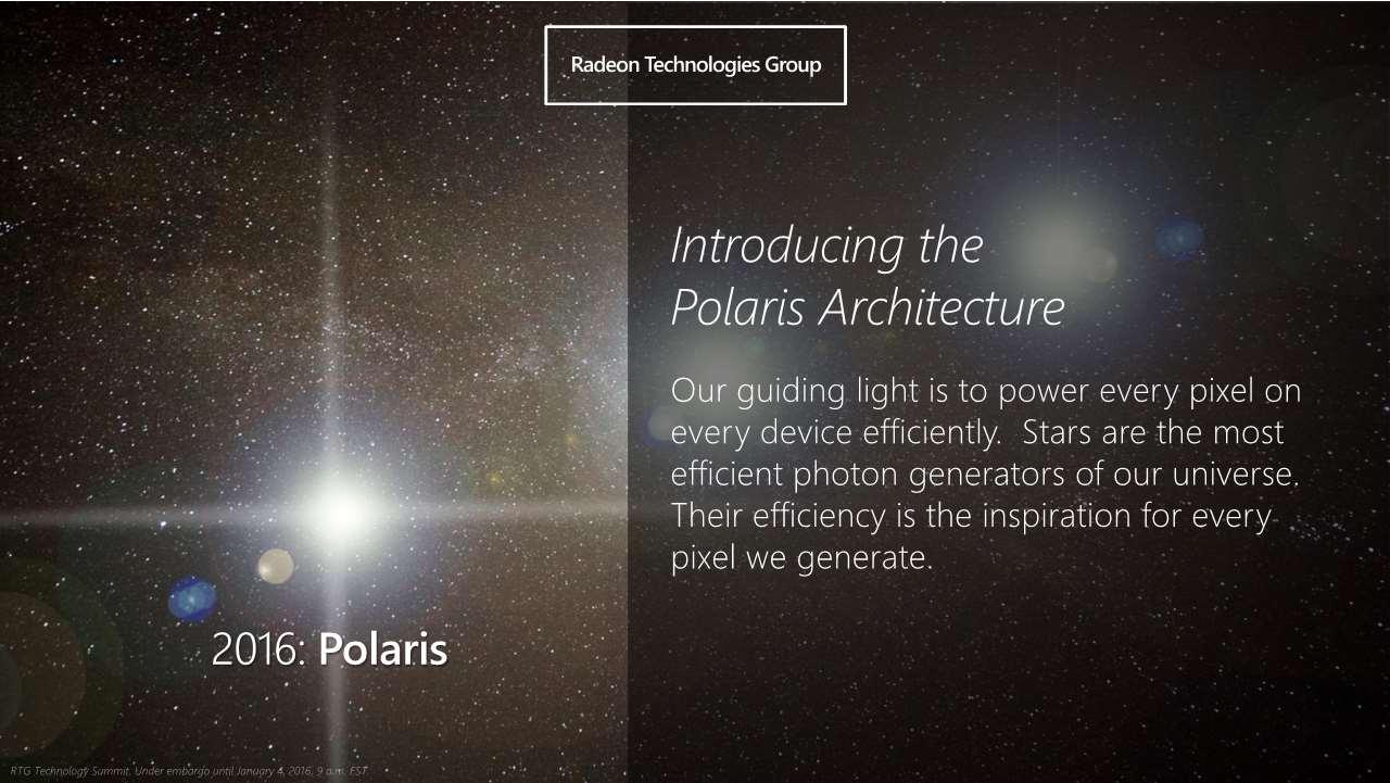 Polarisの開発コードネームはあくまでアーキテクチャ全体の名前。NVIDIAのMaxwellやPascalなどに相当するコードネームだと考えれば分かりやすい