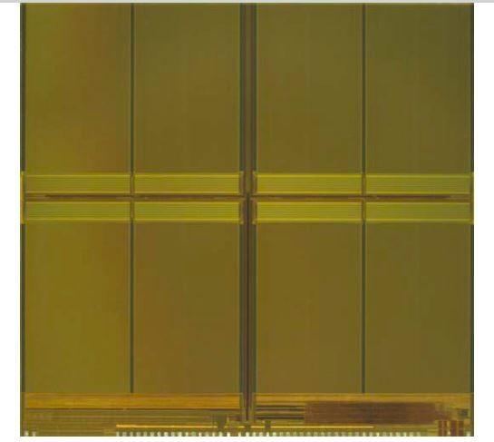 16nm技術で試作した128Gbit MLC NANDフラッシュメモリ。シリコンダイ面積は173.3平方mm。ISSCC 2014でMicron Technologyが発表したもの