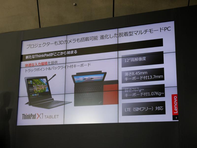 ThinkPad X1 Tablet。Helixの後継として位置付けられている