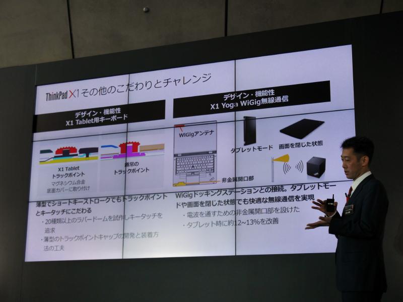 ThinkPad X1のそのほかの開発のこだわりとチャレンジ