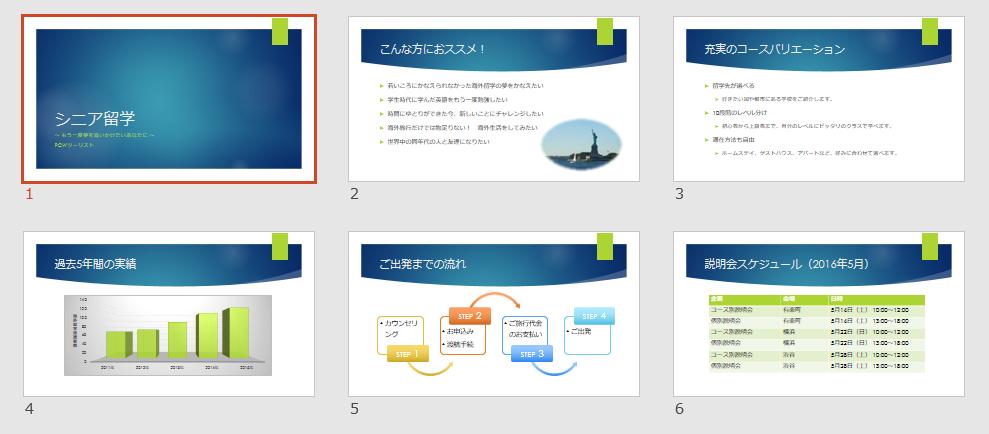 PowerPointを使えば、イラストや概念図、表、グラフなど、視覚効果の高い要素をふんだんに盛り込んだ、洗練されたスライドを簡単に作成できます