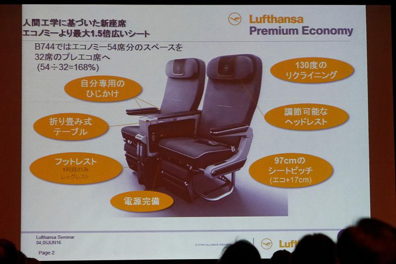 ルフトハンザ航空はエコノミーとビジネスの間に位置付けられる、プレミアムエコノミーを売り出し始めた