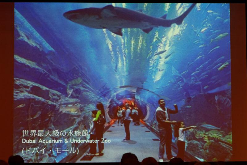 ドバイ・モール内にある世界最大級の水族館