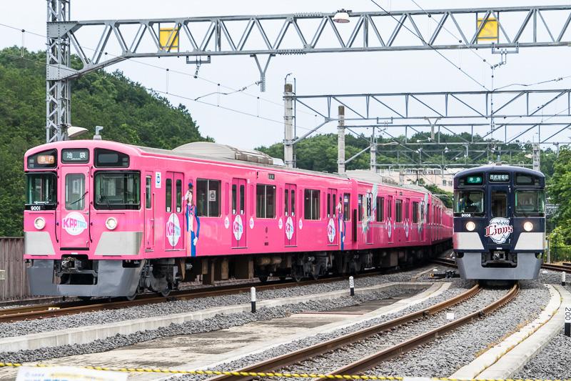 電車撮影会に並んだ「SEIBU KPP TRAIN」と「L-train」