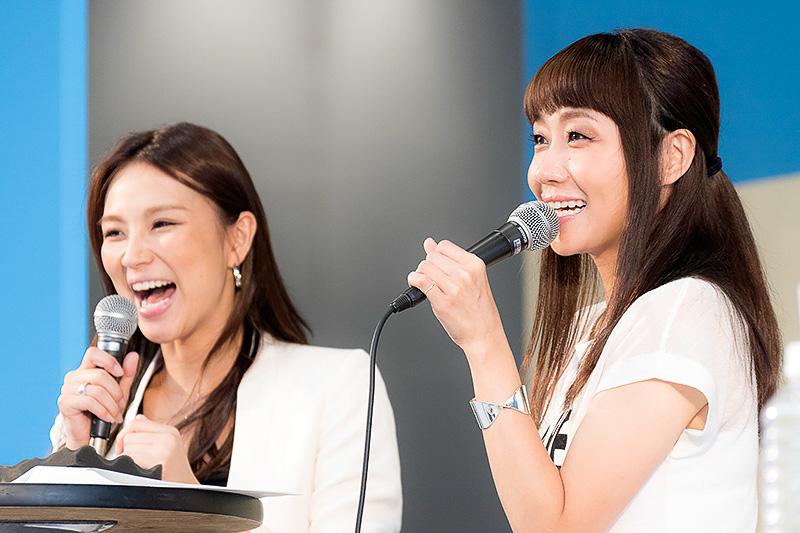 前半は同番組DJ赤松悠実さんとのトークショー