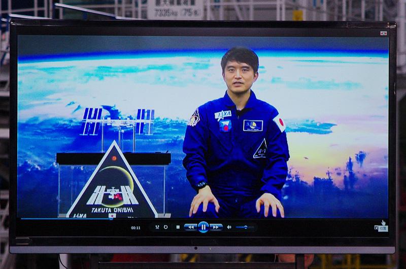 大西宇宙飛行士はビデオメッセージでイベントに登場
