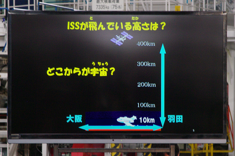 国際宇宙ステーションが飛ぶ高度は羽田から大阪までの距離とほぼ同じ
