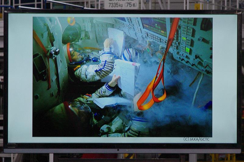 ソユーズでの火災に備えた訓練