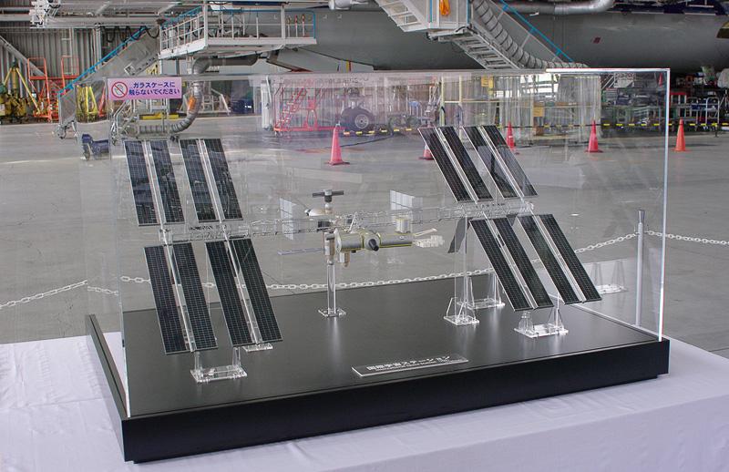 国際宇宙ステーションの1/100の模型