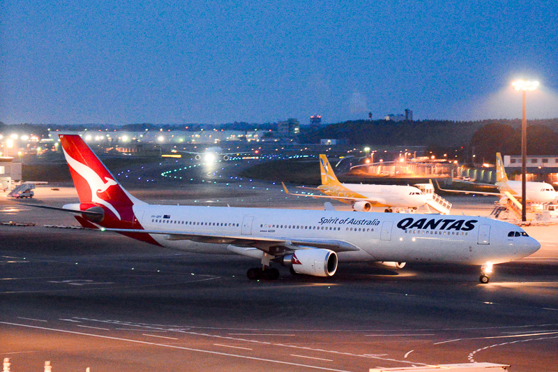 カンタス航空が成田~ブリスベン線で使用しているエアバス A330-300型機