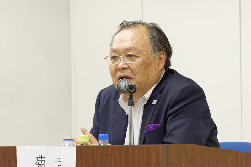 モデレーターを務めた 株式会社ワールド航空サービス 会長、JATA副会長 菊間潤吾氏