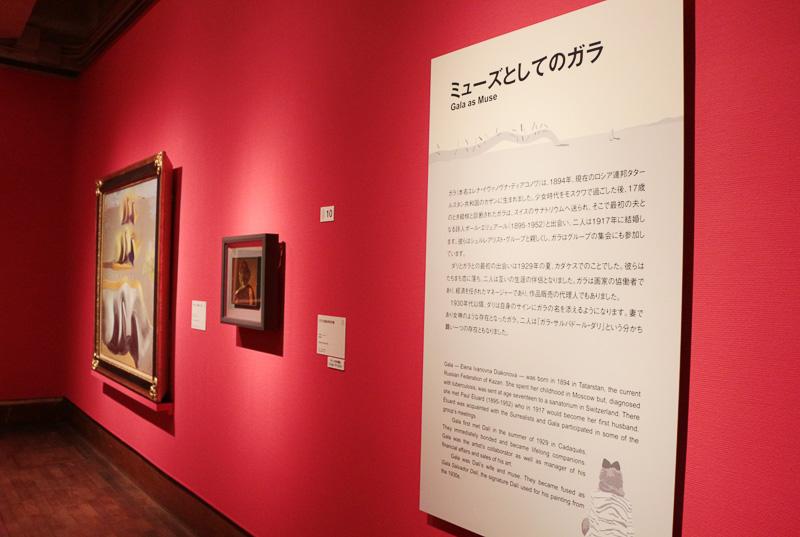ダリの初期の作品から晩年までを、世代毎に分けて展示している。どのように作風が変わっていったのか、分かりやすい
