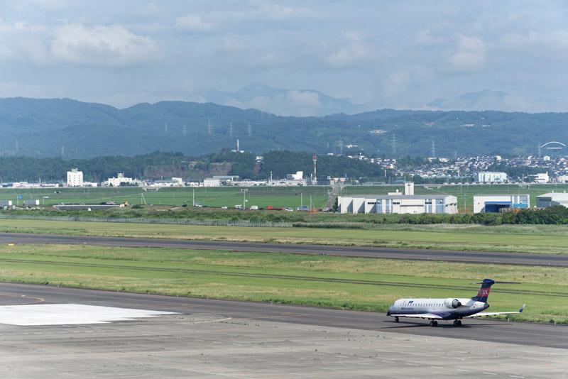 離陸に向けタキシングを始めたIBEX機
