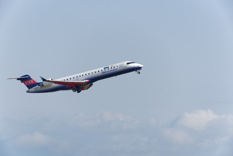 定刻ちょうどに離陸したIBEX機