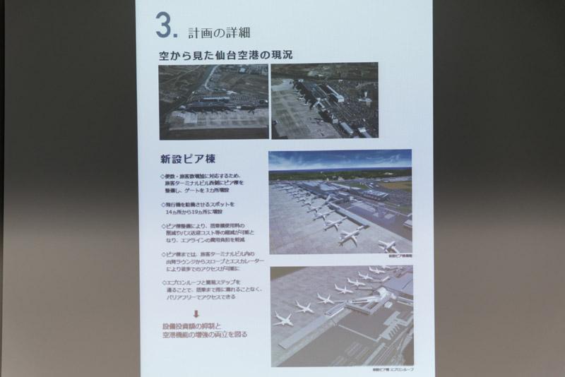 仙台国際空港の置かれている状況、今後の展開について解説した