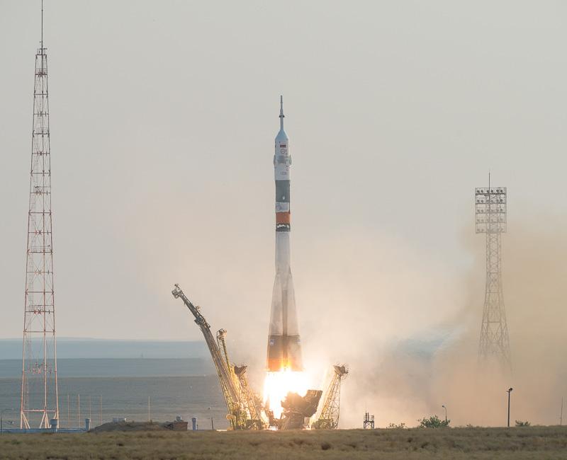日本時間7月7日の10時36分、カザフスタン・バイコヌール宇宙基地から宇宙船「ソユーズ」が打ち上げられた(画像出典:NASA)