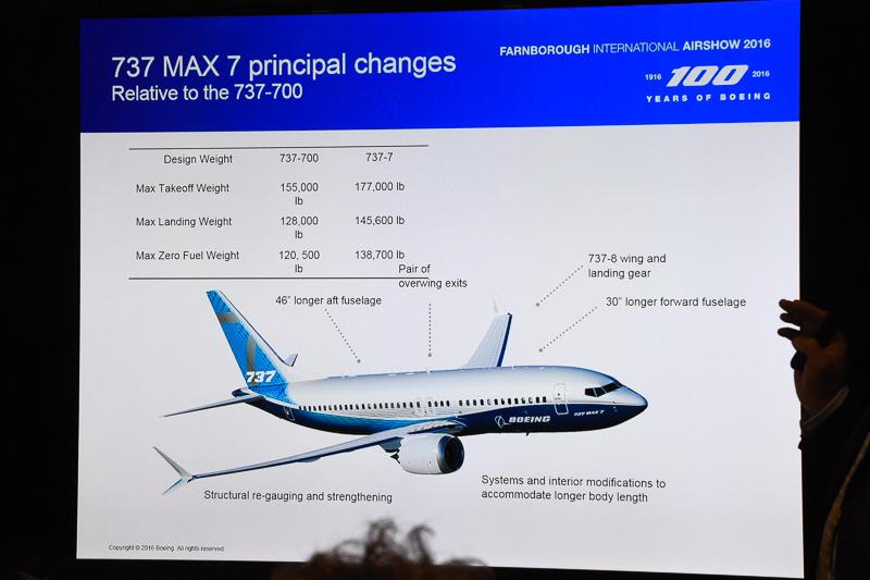 -700型機からの仕様変更が決まったボーイング 737 MAX 7型機