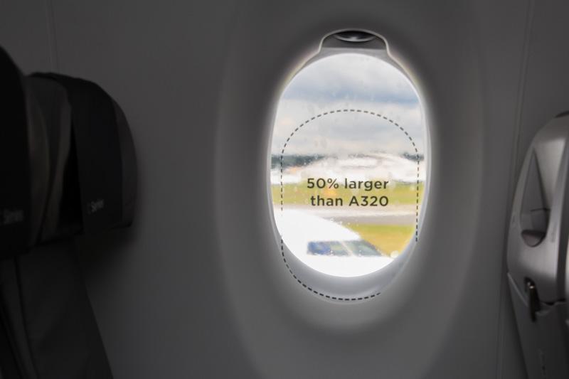 同様にエアバス A320型機に比べて50%大きい