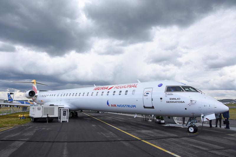 エア・ノストラムが運航するイベリア航空カラーのCRJ1000