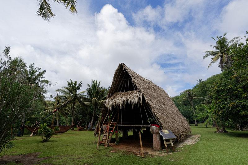 きれいに整備されたチャモロ人の村落跡