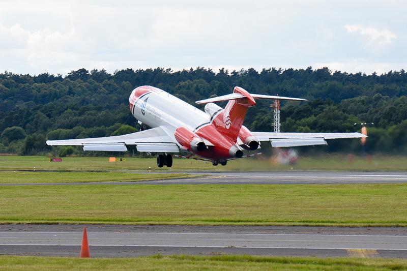 ボーイング 727型機は世界でも数を減らしており、空を飛ぶ姿が貴重になりつつある