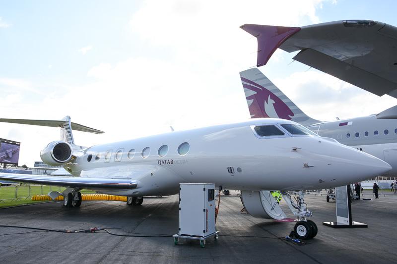 カタール航空がカタール・エグゼクティブのブランドで展開するプライベートジェットのサービス。GulfstreamのG650ER型機を使い、中東から北米などの長距離をノンストップで運航する