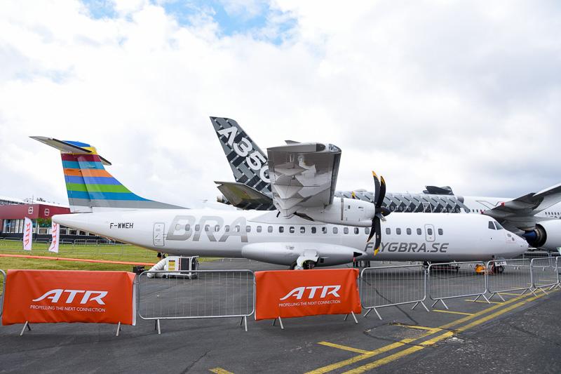 スウェーデンの「BRA(Braathens Regional Airlines)」塗装が施されたATR 72-600型機