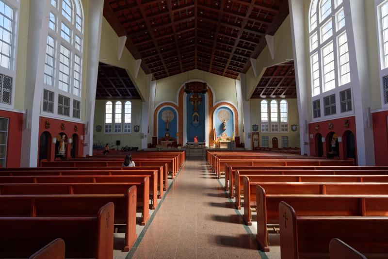 ちなみに、グアム・ミュージアムの斜向かいには、グアム最大の協会、聖母マリア大聖堂がある