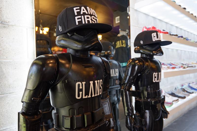 ブランドイメージに合わせて黒く塗られた、スター・ウォーズに登場するクローン・トルーパー