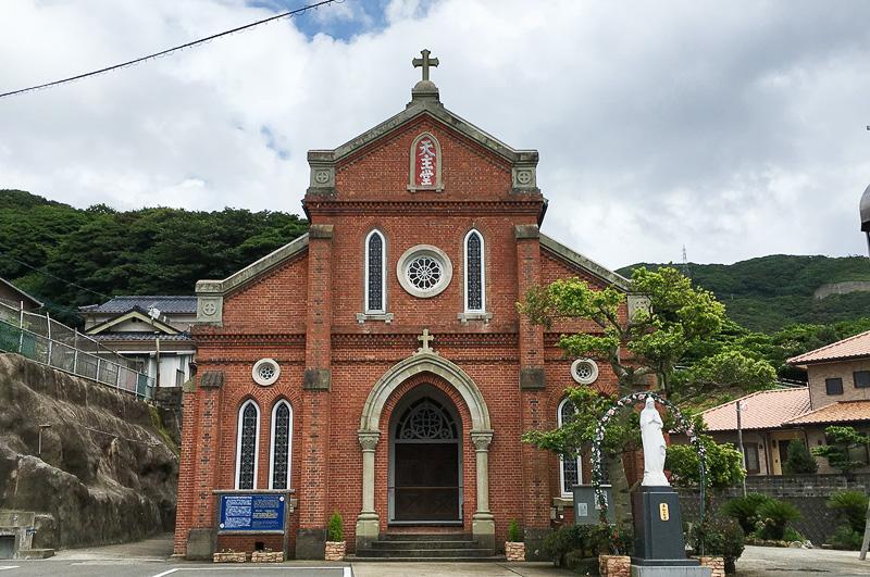 レンガ造の教会、青砂ヶ浦天主堂