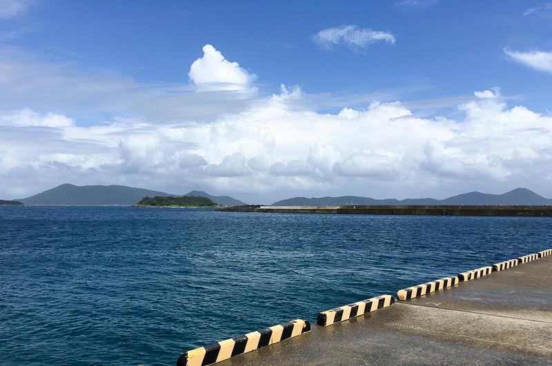 少し波乱はあったものの無事に小値賀港に到着。空も晴れひと安心