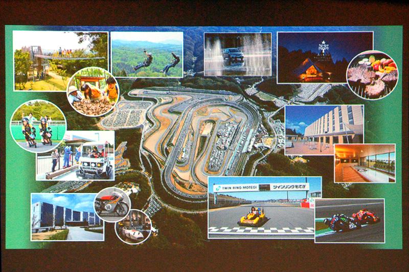ツインリンクもてぎは、レーシングコースやホンダコレクションホール、ホテルやキャンプなどがあるモビリティテーマパーク