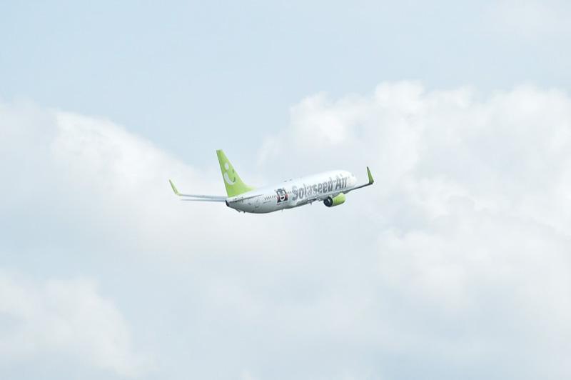 9時48分、折り返しSNA014便として、羽田空港へ向けてテイクオフ