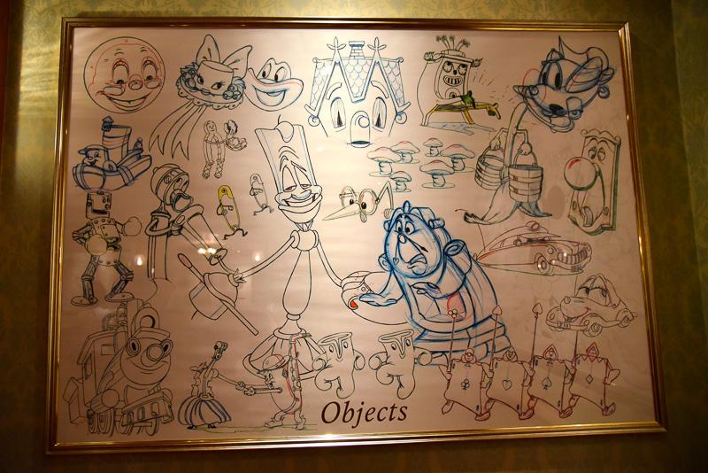 カテゴリー別に描かれたキャラクターたち。夢の共演だ