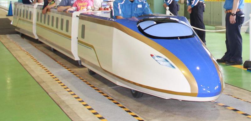 ミニ新幹線の乗車体験