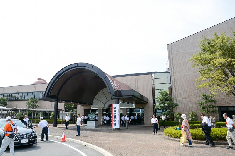 開通式典の会場となった東員町総合文化センター