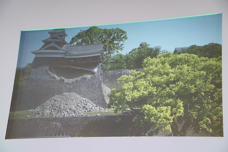 石垣が壊れた熊本城