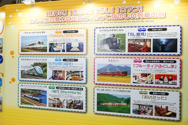 特別列車関連の紹介パネル