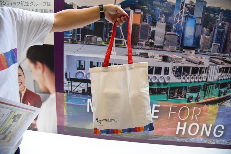香港のロゴ入りオリジナルトートバッグ