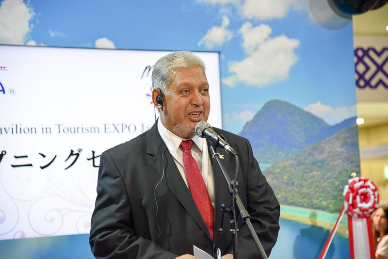 ダト・スリ・ミルザ・モハマッド・タイヤブマレーシア政府観光局総局長が挨拶