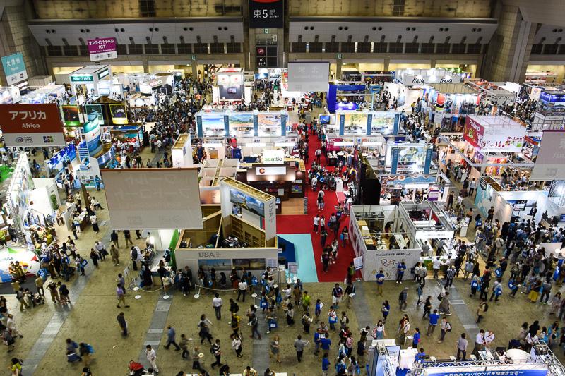 ツーリズムEXPOジャパン2016の東5ホール(9月24日撮影)