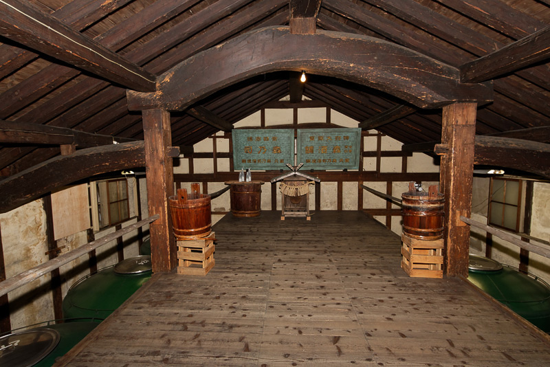 江戸時代に建てられたものを移築したという蔵
