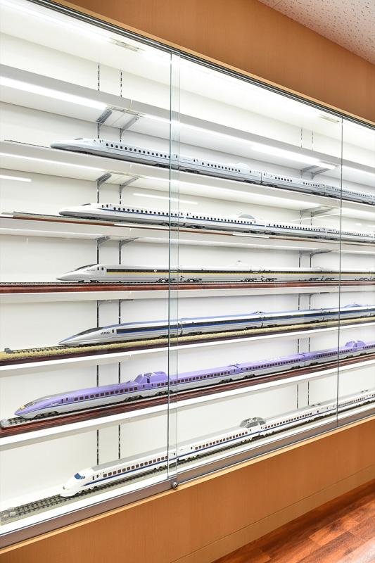 新幹線各種のスケールモデルゾーン
