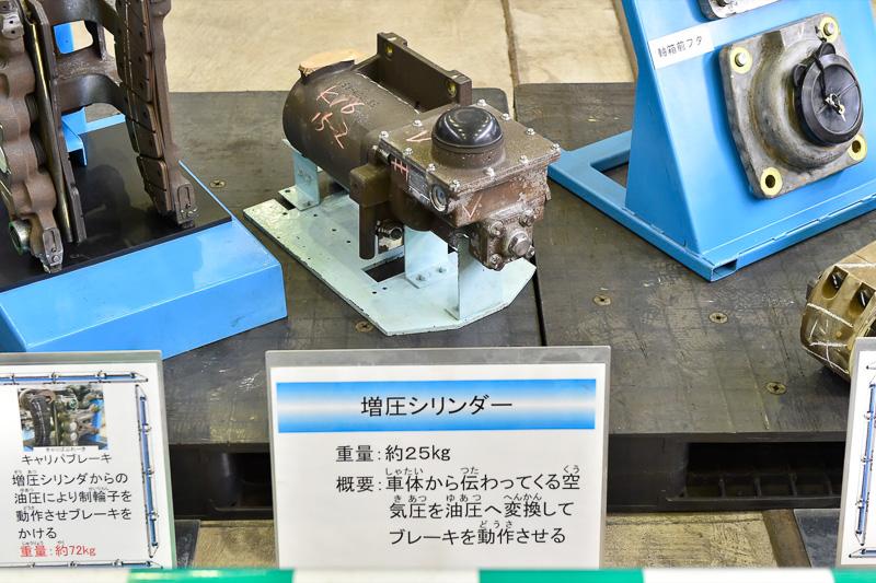 ブレーキを作動させるための油圧式の増圧シリンダー